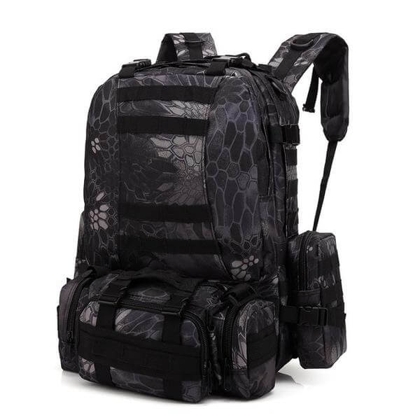600D Oxford 55 Liter Camouflage Tactical Molle Backpack
