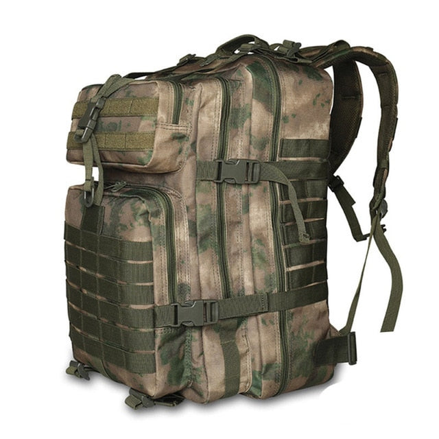 Camouflage Camping Hiking Outdoor Tactical Rucksack Bag Backpack