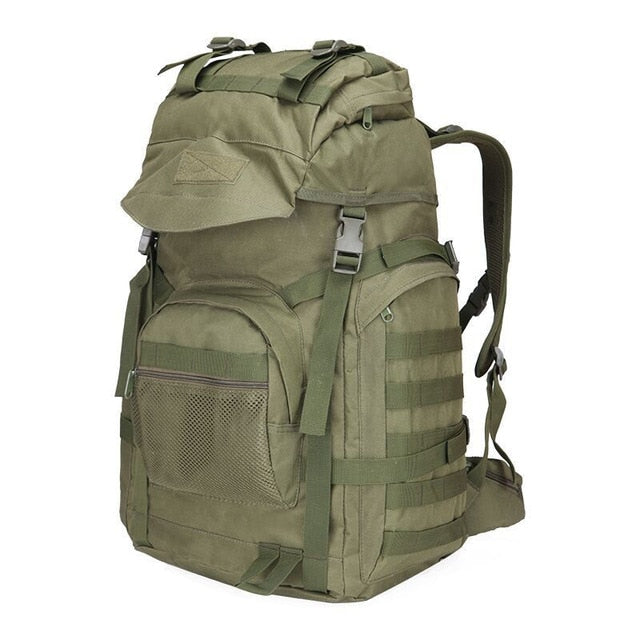 Army Green Lightweight Outdoor Hiking Camping Tactical Bag Backpack