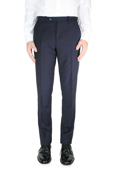 Navy Wool Mohair Trouser