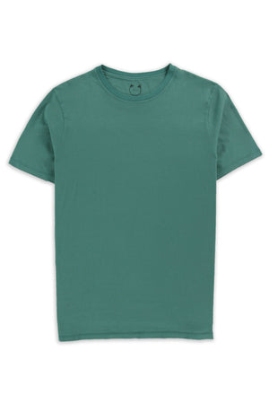 Organic Cotton Modal Short Sleeve Crew Bottle Green