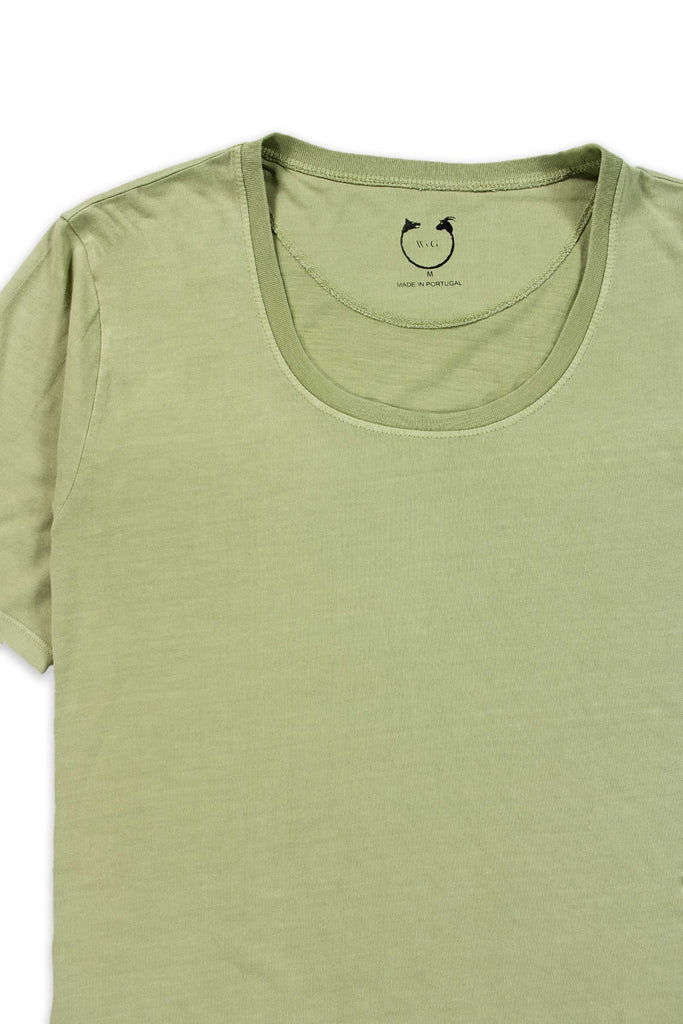 Organic Cotton Short Sleeve Scoop Neck Greenstone