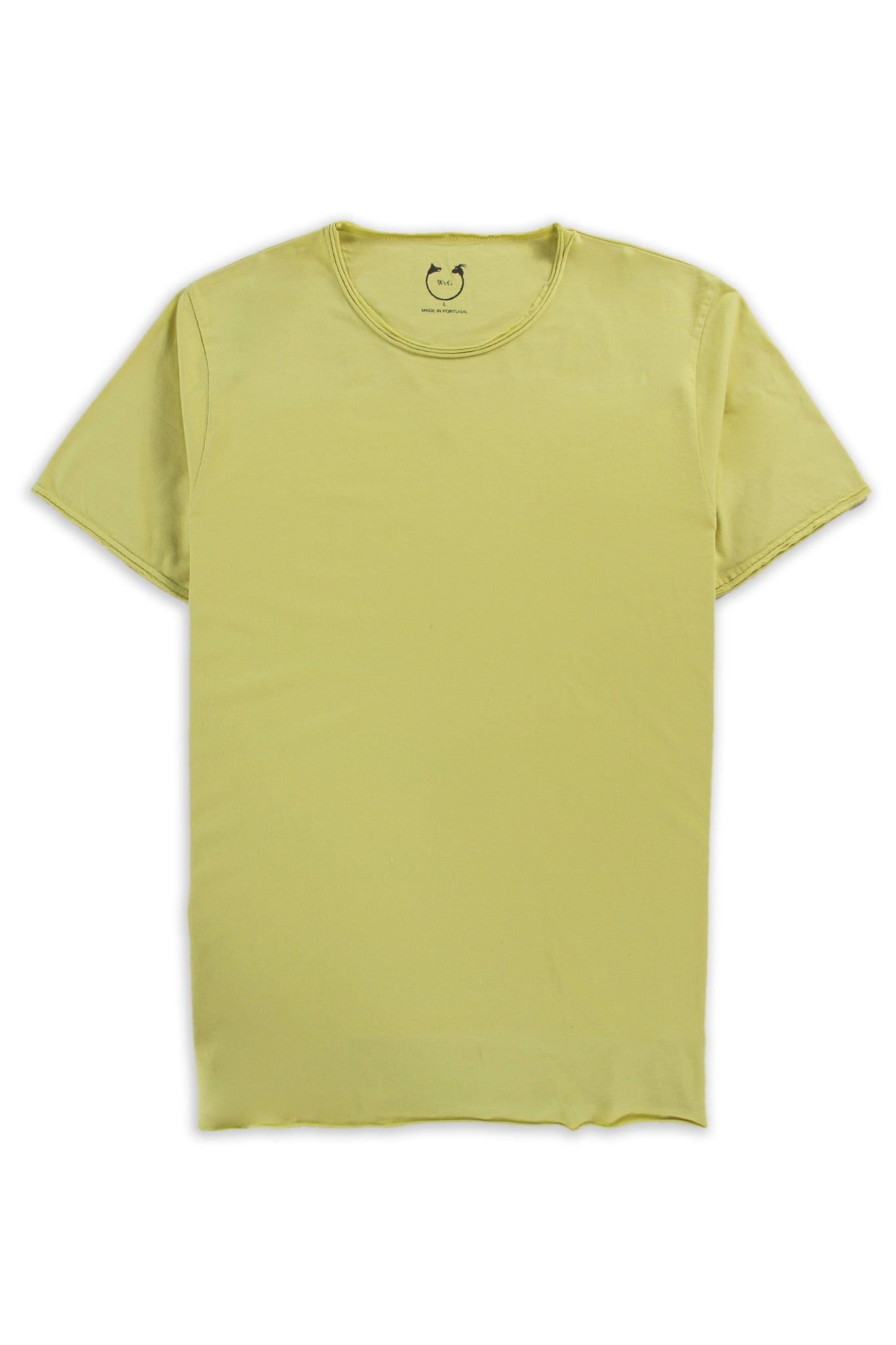 Organic Cotton Modal  Short Sleeve Roll Neck Lemonade