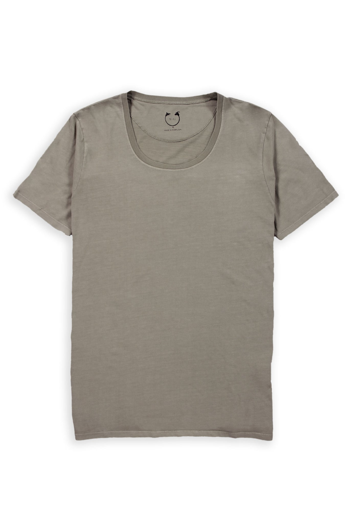 Organic Cotton Short Sleeve Scoop Neck Mudstone