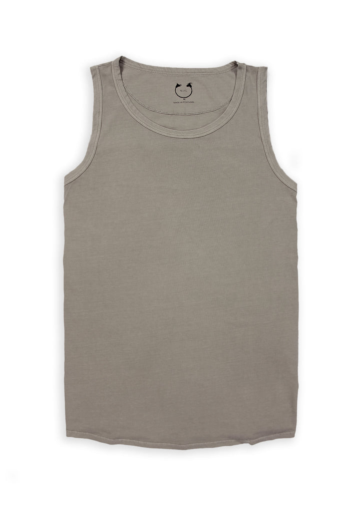 Organic Cotton Short Sleeve Tank Top Mudstone