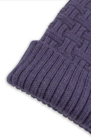 Regal Purple Basket Weave Beanie