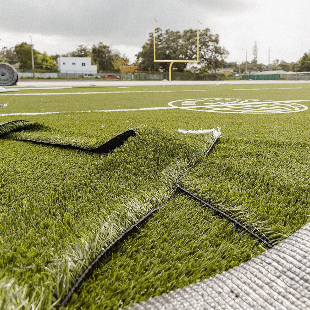 Adidas Constructs Sustainable Football Field Using 1.8 Million Plastic Bottles