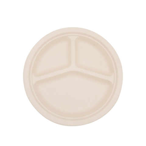 "10"" Round 3-Compartment Plate"