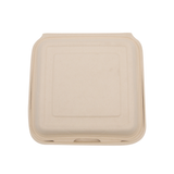 "9"" x 9"" x 3""  Wheat Straw Hinged Lid Container"
