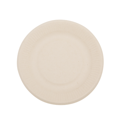 "6"" Wheat Straw Round Plate"