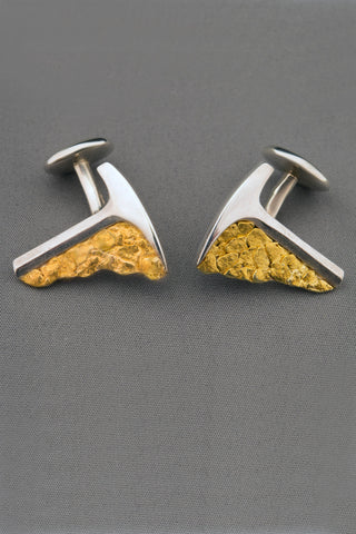 Stylized Rock Hammer Cufflinks