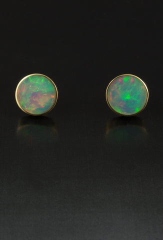 Ethiopian Opal Earrings in 18kt Gold