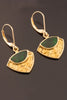 Maw Sit Sit and Gold Nugget Drop Earrings