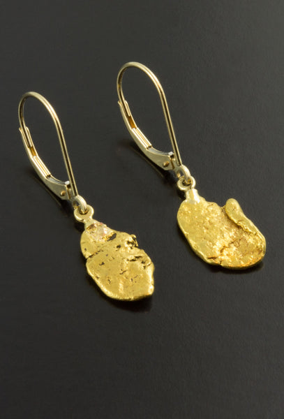 Natural Gold Nugget Earrings