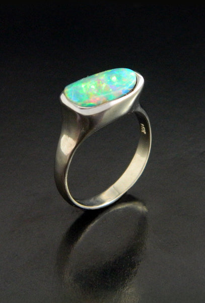 Opal & White Gold Ring