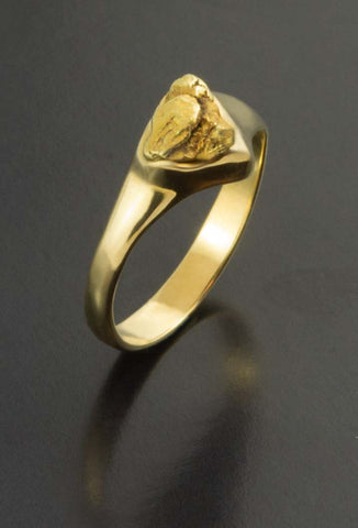 Single Natural Gold Nugget Ring