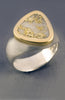 Texada Island Gold in Quartz Ring