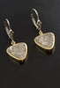 Taza Meteorite Earrings in 18kt Gold and Sterling Silver