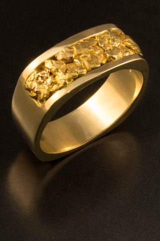 Natural Gold Nugget Band