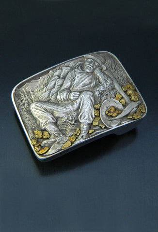 'Exhausted Stampeder' Miner Belt Buckle