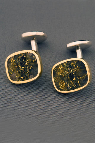 Campbell Red Lake Gold in Quartz Cufflinks
