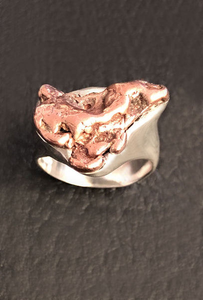 Natural Copper Nugget Ring