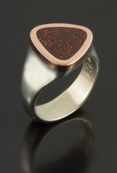 Dinosaur Bone Ring in Rose Gold