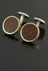 Gem Dinosaur Bone Cufflinks in 18kt Rose Gold