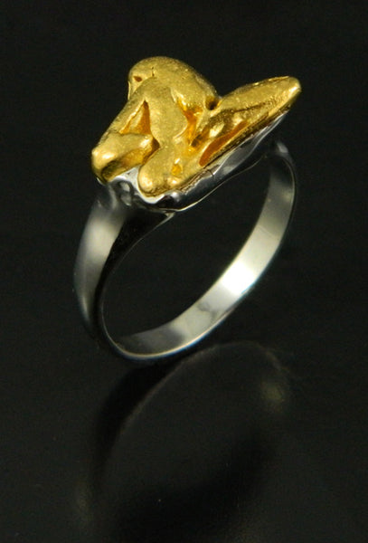 Natural Gold Crystal Ring