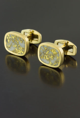 Gold in Quartz Cufflinks