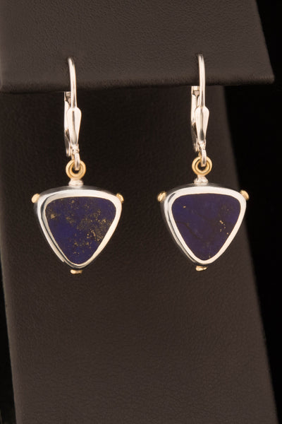 Lapis Lazuli 18kt Gold and Sterling Silver Earrings