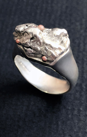 Natural Silver Nugget Ring