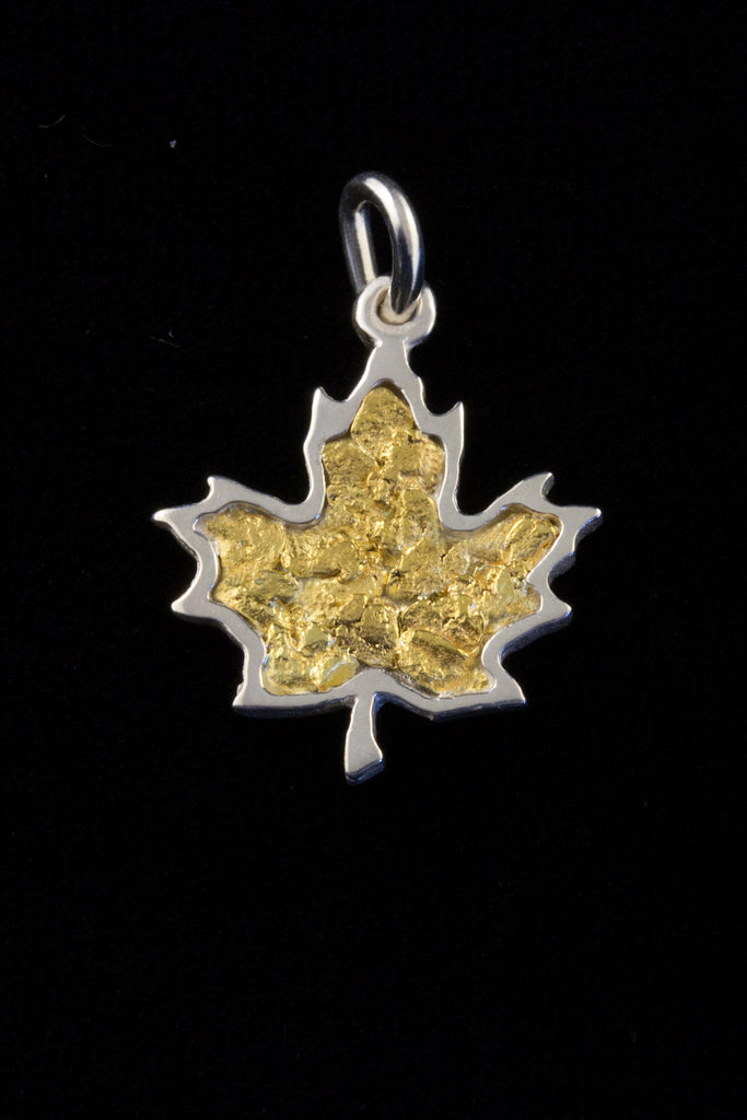 maple heart necklace gold solid yellow pendant leaf