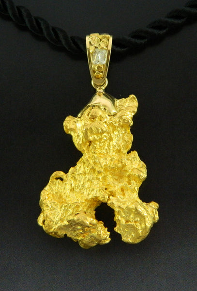 Large Gold Nugget Pendant