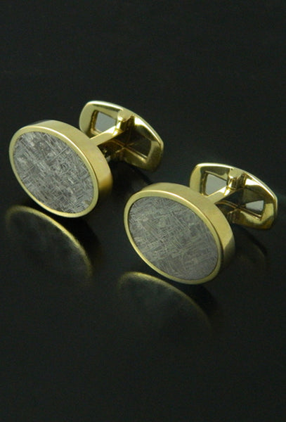 Taza Meteorite Cufflinks in 18kt Gold