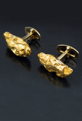Natural Gold Nugget Cufflinks