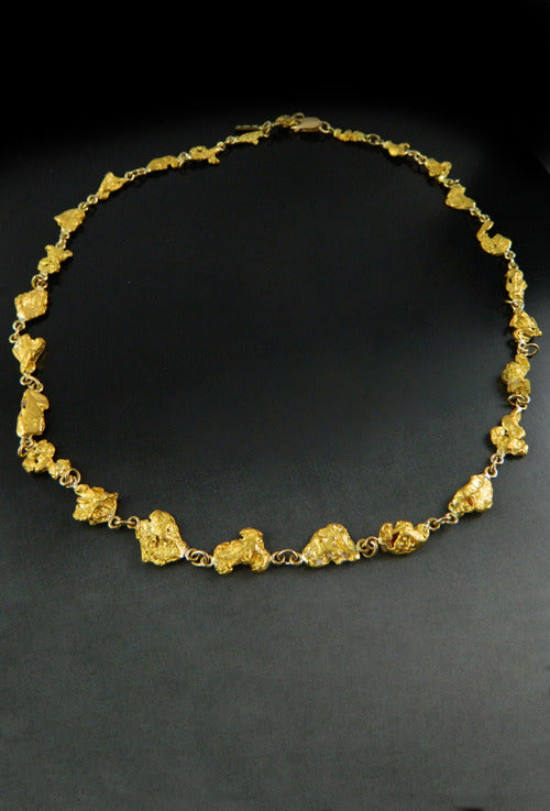 77ca8ca664aaa Placer Gold Design - Natural Gold Nugget Necklace