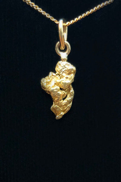 Natural Gold Nugget Pendant