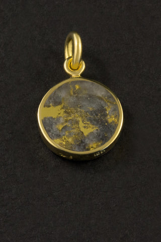 Gold in Quartz Pendant
