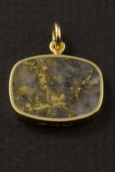 Gold in Quartz and Lapis Pendant (double-sided)