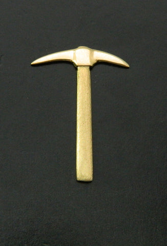 Gold Miner Pick Lapel Pin