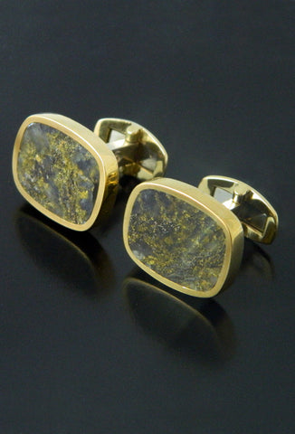 Red Lake Gold Quartz Cufflinks