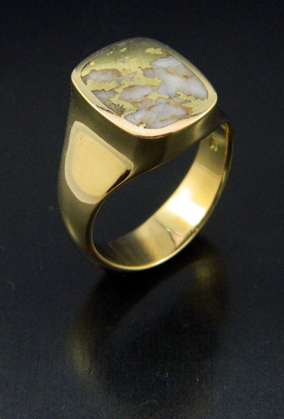 Gold in Quartz Ring