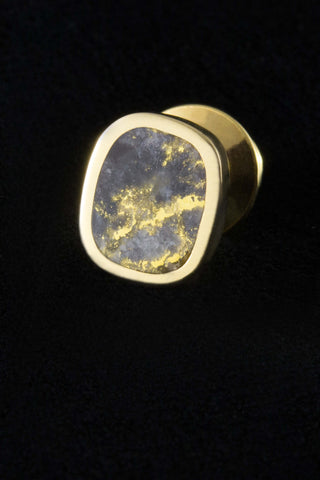Gold in Quartz Tie Tack