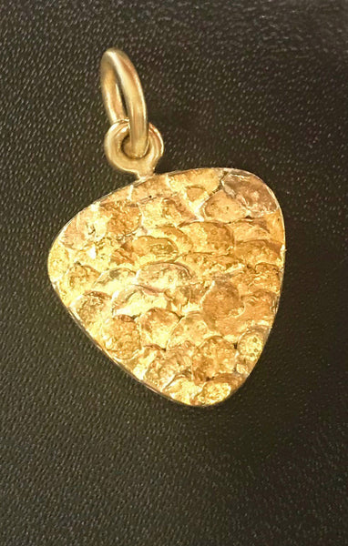 Natural Gold Nugget Triangle Pendant