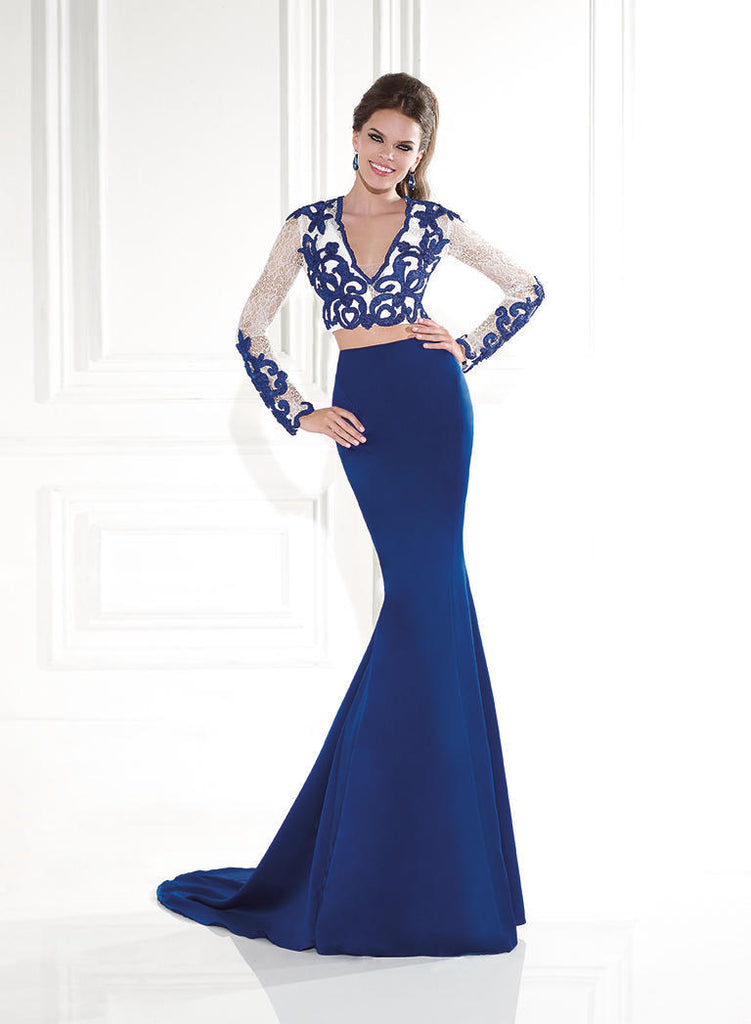 Tarik Ediz 92575 Beaded Embellished Dress