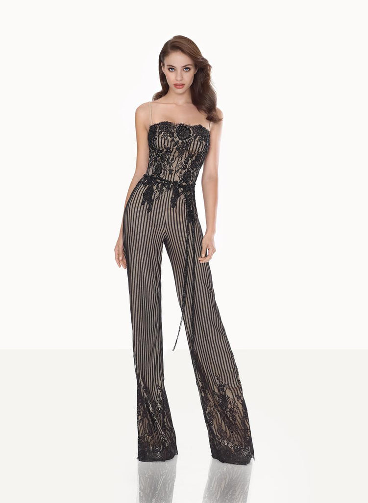 Tarik Ediz 92710 Lace Jumpsuit Dress
