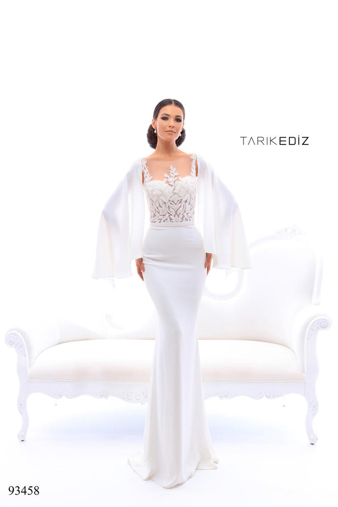 Tarik Ediz 93458 Long Sleeve Fitted Dress