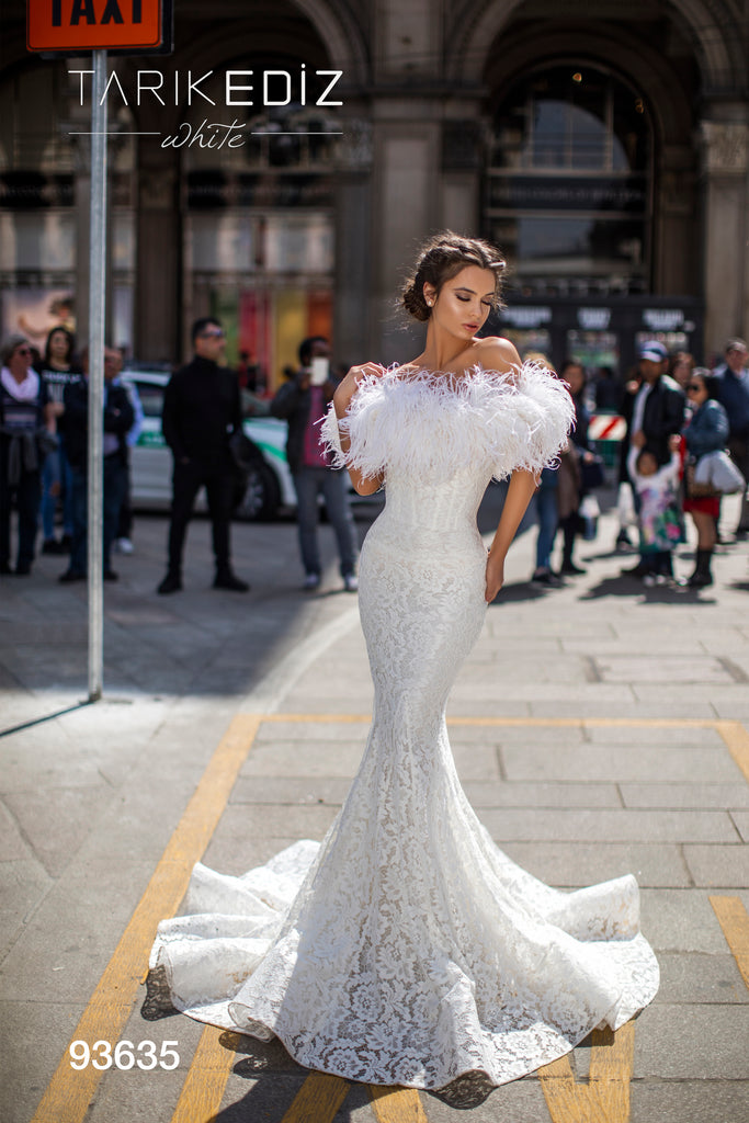 Tarik Ediz 93635 Long Mermaid Bridal Dress