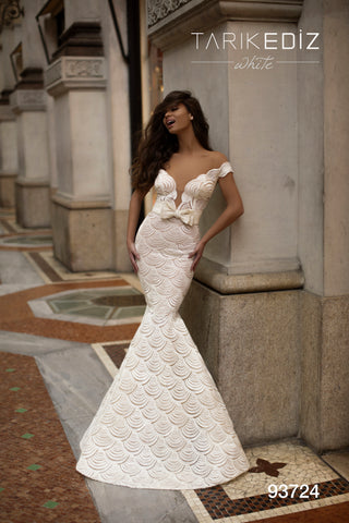 Tarik Ediz 93724 Lace Mermaid Bridal Dress